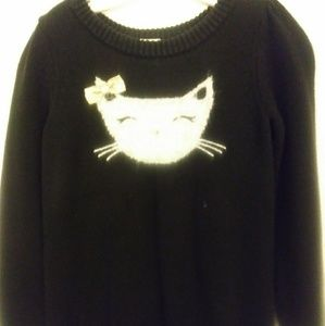 Gymboree kitty sweater 5-6